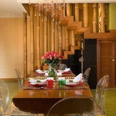 Eclectic Dining Room by Iwan Sastrawiguna Interior Design