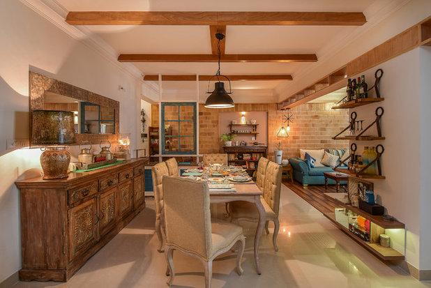 Eclectic Dining Room by studio meraki