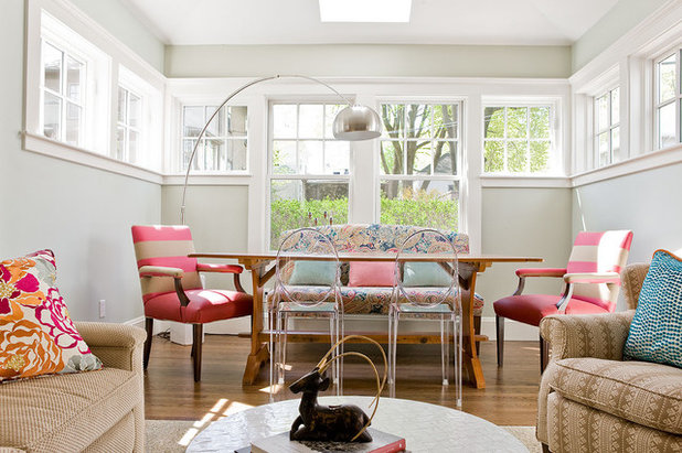 Eclectic Dining Room by Ana Donohue Interiors