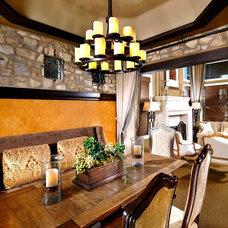 Mediterranean Dining Room by McRae Lambert & Dunn