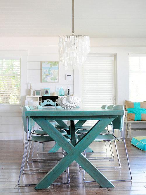 Aqua Dining Table Houzz