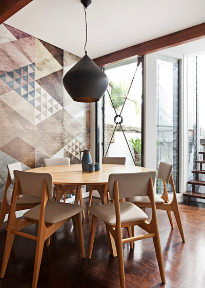 Eclectic Dining Room by Trentini Design