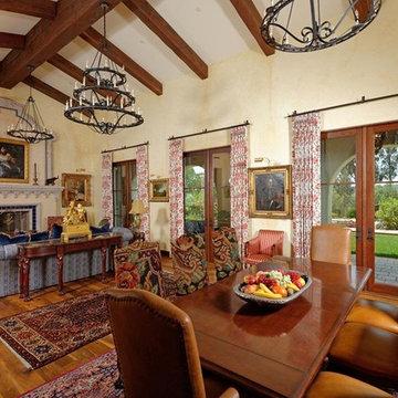 Antique Barnboard Oak - California Spanish Revival Home