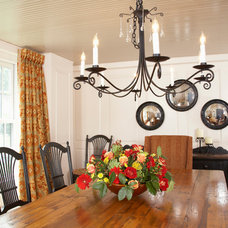 Farmhouse Dining Room by Gale Michaud Interiors