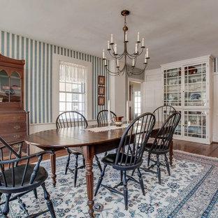 Enclosed Dining Room   Traditional Dark Wood Floor And Brown Floor Enclosed Dining  Room Idea In