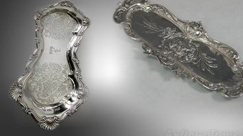 Antique Silver Trays Collector