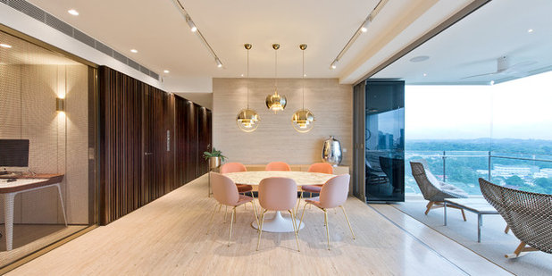 Contemporary Dining Room by Architology