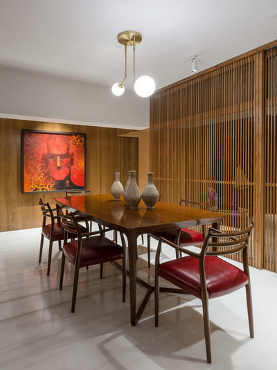 Asian Dining Room by ns*a Architecture and Interiors