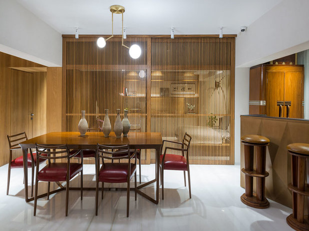 Contemporary Dining Room by ns*a