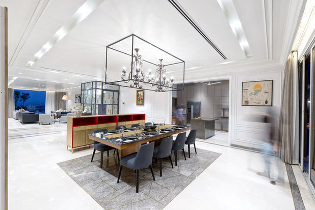 Contemporary Dining Room by Praxis