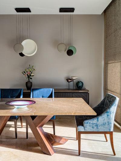 Contemporary Dining Room by Rakeshh Jeswaani Interior Architects