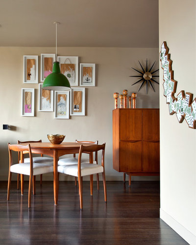 Midcentury Dining Room by Designed Space Interior Exterior