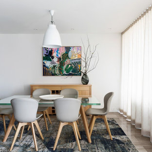 A beautiful dining space transitioning seamlessly