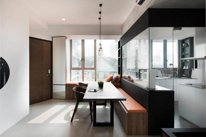 Contemporary Dining Room by Proj. B Studio