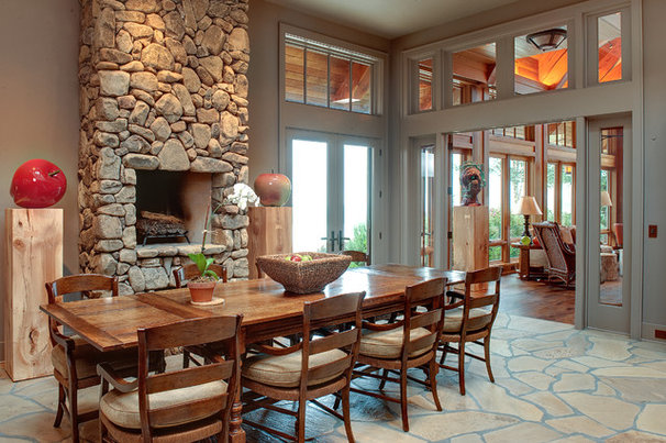 Rustic Dining Room by Moon Bros Inc