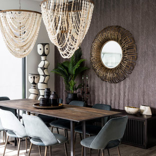 Photo Of A Mid Sized Contemporary Dining Room In Gold Coast   Tweed With  Medium