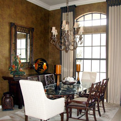 asian dining room by Lynette Edmonds Interiors