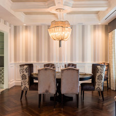 Transitional Dining Room by Beyond Beige Interior Design Inc.
