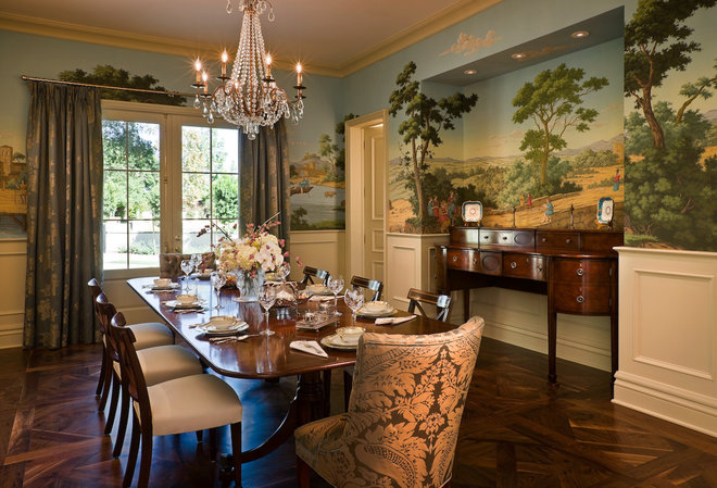 Traditional Dining Room by PHX Architecture