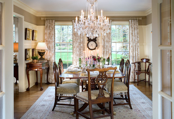 Traditional Dining Room by Marlene Wangenheim AKBD, CAPS, Allied Member ASID