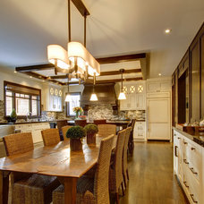 craftsman dining room by Rockwood Custom Homes