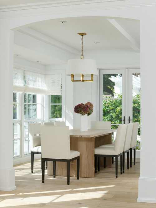 White Leather Dining Chairs | Houzz
