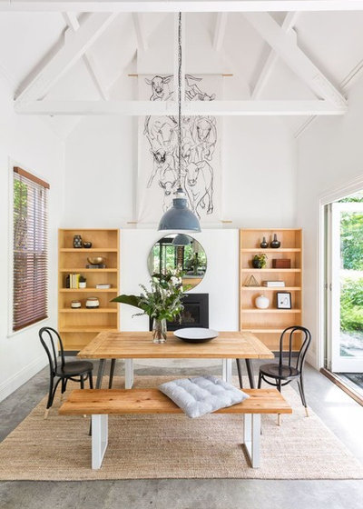 Farmhouse Dining Room by The Real Estate Stylist