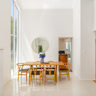 Design ideas for a scandinavian dining room in Brisbane.