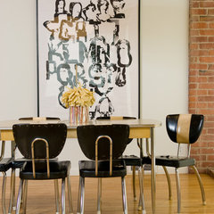 modern dining room by Ed Ritger Photography