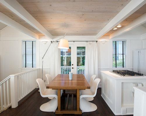 Whitewashed Wood Ceiling  Houzz