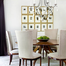 Transitional Dining Room by Westbrook Interiors