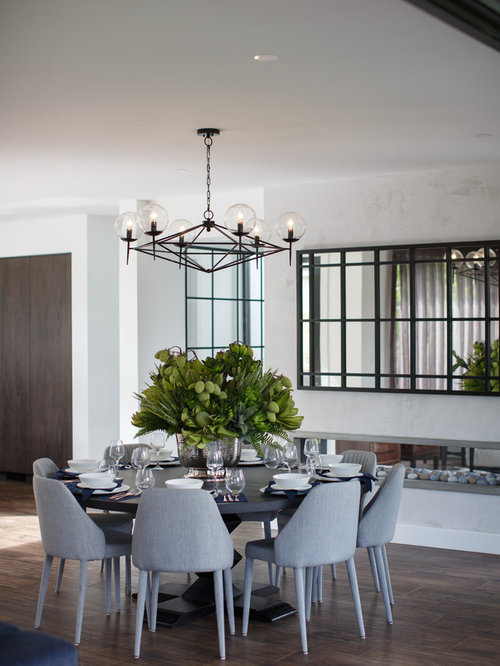 Photo of a contemporary dining room in Sydney  Contemporary Home Design Ideas Photos