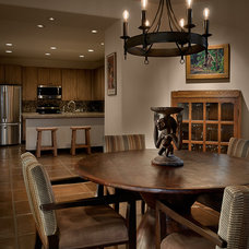 Contemporary Dining Room by Angelica Henry Design