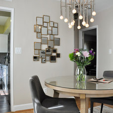 Transitional Dining Room by CM Glover