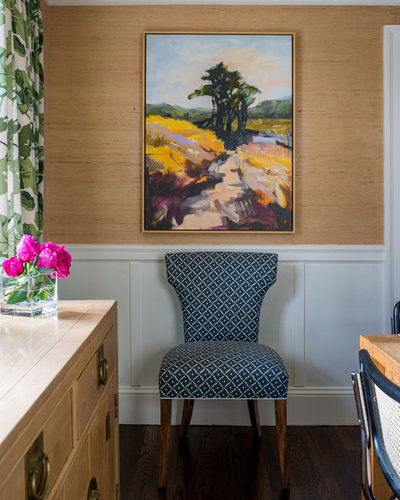 Transitional Dining Room by Meghan Shadrick Interiors
