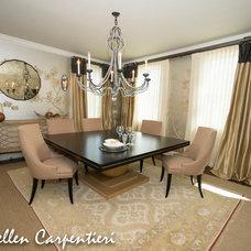 Eclectic Dining Room by Saadia Sullivan Design