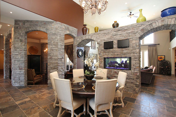 Traditional Dining Room by Masterplan Residential Drafting and Design