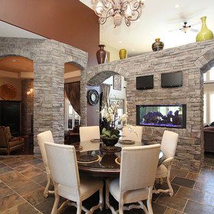 Elegant brown floor dining room photo in Ottawa
