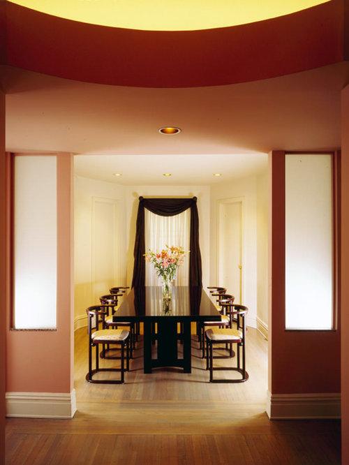 Salle Manger Moderne Avec Un Mur Rose Photos Et Id Es