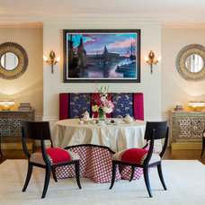 Transitional Dining Room by Boston Design and Interiors, Inc.