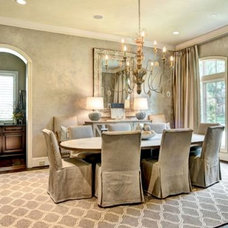 Contemporary Dining Room by L. Pearson Designs