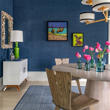 Artful view in dining room