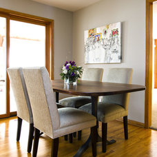 Eclectic Dining Room by Alison Besikof Custom Designs