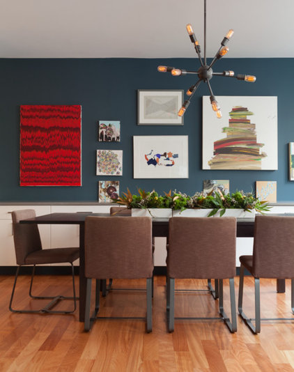 Contemporary Dining Room by mercer INTERIOR