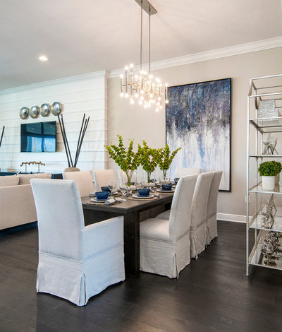 Beach Style Dining Room by Masterpiece Design Group