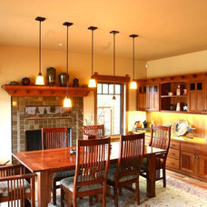 Traditional Dining Room by Dansky Handcrafted LLC