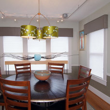 Transitional Dining Room by Laura Manchee Designs