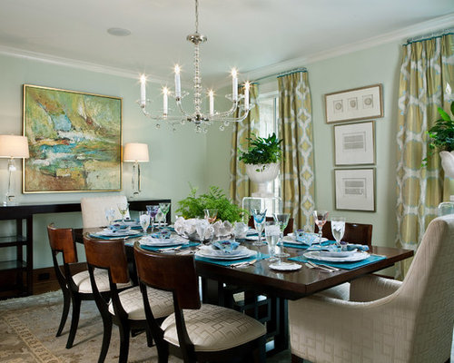 Aqua dining room houzz for Best dining rooms houzz