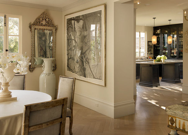Transitional Dining Room by Candace Barnes