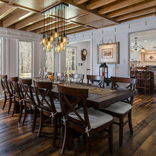 Farmhouse Dining Room by Reflections Interior Design